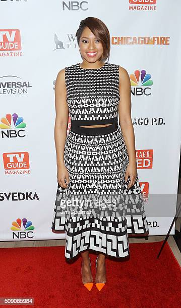 TV personality Alicia Quarles attends the TV Guide Magazine celebrates Dick Wolf's Chicago series at LeGrande Lounge at The Time New York Hotel on...