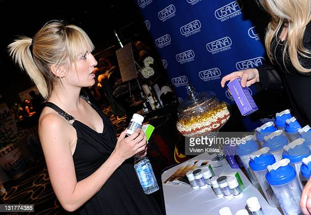 TV personality Alison Haislip poses with USANA during Kari Feinstein MTV Movie Awards Style Lounge at the W Hollywood on June 3 2011 in Hollywood...