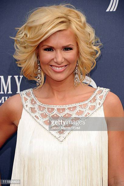 TV personality Allison Demarcus arrives at the 46th Annual Academy Of Country Music Awards RAM Red Carpet held at the MGM Grand Garden Arena on April...
