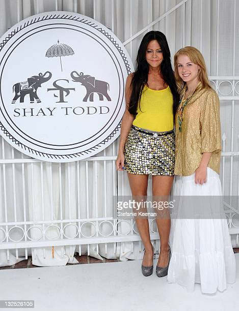 TV personality Allison Melnick and actress Laura Slade Wiggins attend the Shay Todd Flagship Store Opening at Shay Todd Boutique on July 7 2011 in...
