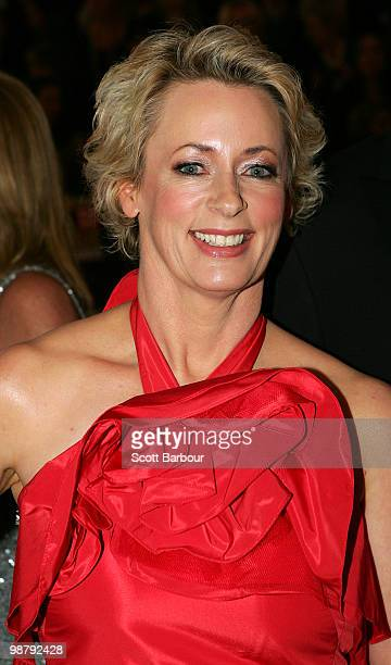 TV personality Amanda Keller arrives at the 52nd TV Week Logie Awards at Crown Casino on May 2 2010 in Melbourne Australia