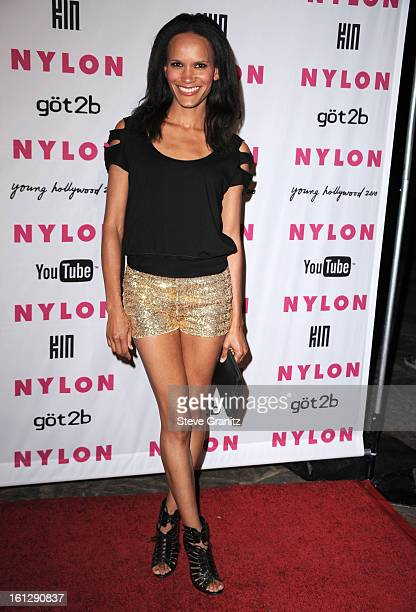 TV personality Amanda Luttrell Garrigus attends Nylon Magazine's Young Hollywood Party at Tropicana Bar at The Hollywood Rooselvelt Hotel on May 12...
