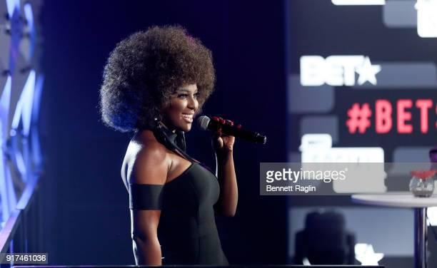 TV personality Amara La Negra attends BET's Social Awards 2018 Show at Tyler Perry Studio on February 11 2018 in Atlanta Georgia