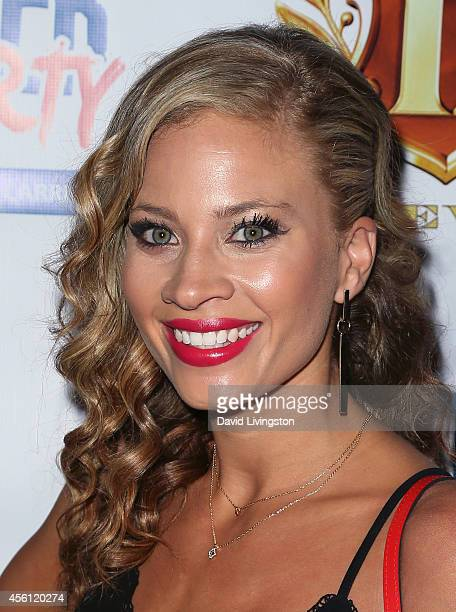 TV personality Amber Borzotra attends the 'Big Brother 16' Red Carpet Finale Party at Eleven NightClub on September 25 2014 in West Hollywood...