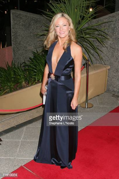 TV personality Amber Petty attends Channel Seven's TV Turns 50 The Event That Stopped a Nation at Star City on September 17 2006 in Sydney Australia
