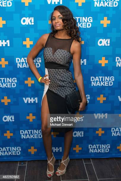 TV personality Amber Walker attends the 'Dating Naked' series premiere at Gansevoort Park Avenue on July 16 2014 in New York City