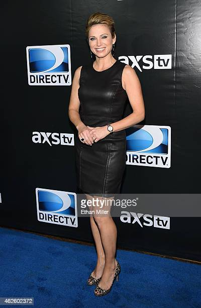 TV personality Amy Robach attends DirecTV Super Saturday Night hosted by Mark Cuban's AXS TV and Pro Football Hall of Famer Michael Strahan at...