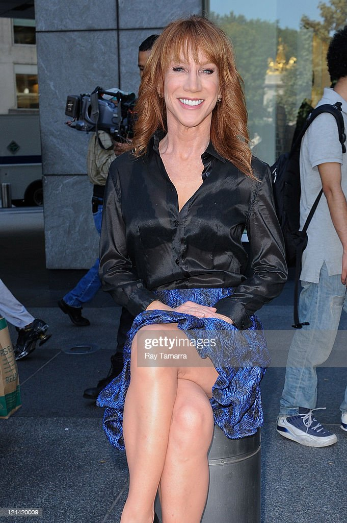 TV personality and actress Kathy Griffin relaxes in Time Warner Center on September 9, 2011 in New York City.