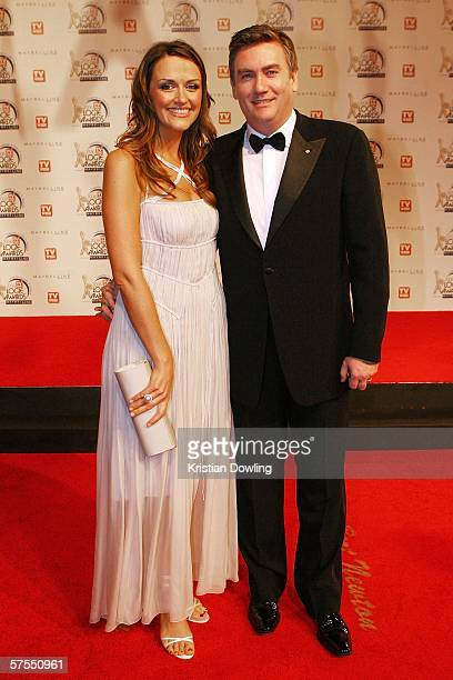 Personality and Channel 9 CEO Eddie McGuire arrives with wife Carla McGuire at the 48th Annual TV Week Logie Awards at the Crown Entertainment...