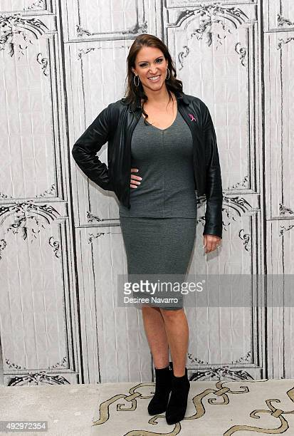 TV personality and Chief Brand Officer of WWE Stephanie McMahon attends AOL BUILD Presents Stephanie McMahon at AOL Studios In New York on October 16...