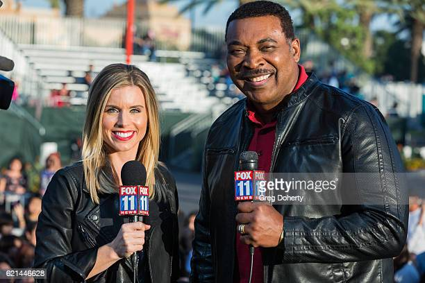Personality and CoAnchor of Good Day LA Maria Sansone and Coanchor of Fox 11 Morning News Tony McEwing on stage at the Citadel Outlets' 15th Annual...