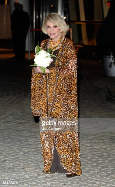 TV personality and comedian Joan Rivers attends the wedding of Howard Stern and Beth Ostrosky at Le Cirque on October 3 2008 in New York City
