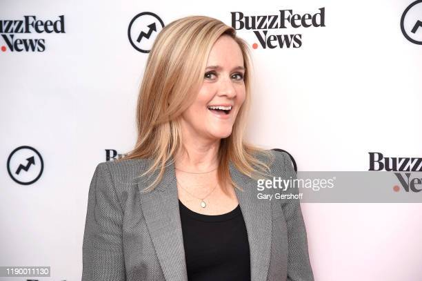 "Personality and comedian Samantha Bee visits BuzzFeed's ""AM TO DM"" to discuss the ""Full Frontal'$ Totally Unrigged Primary"" game on November 25, 2019..."