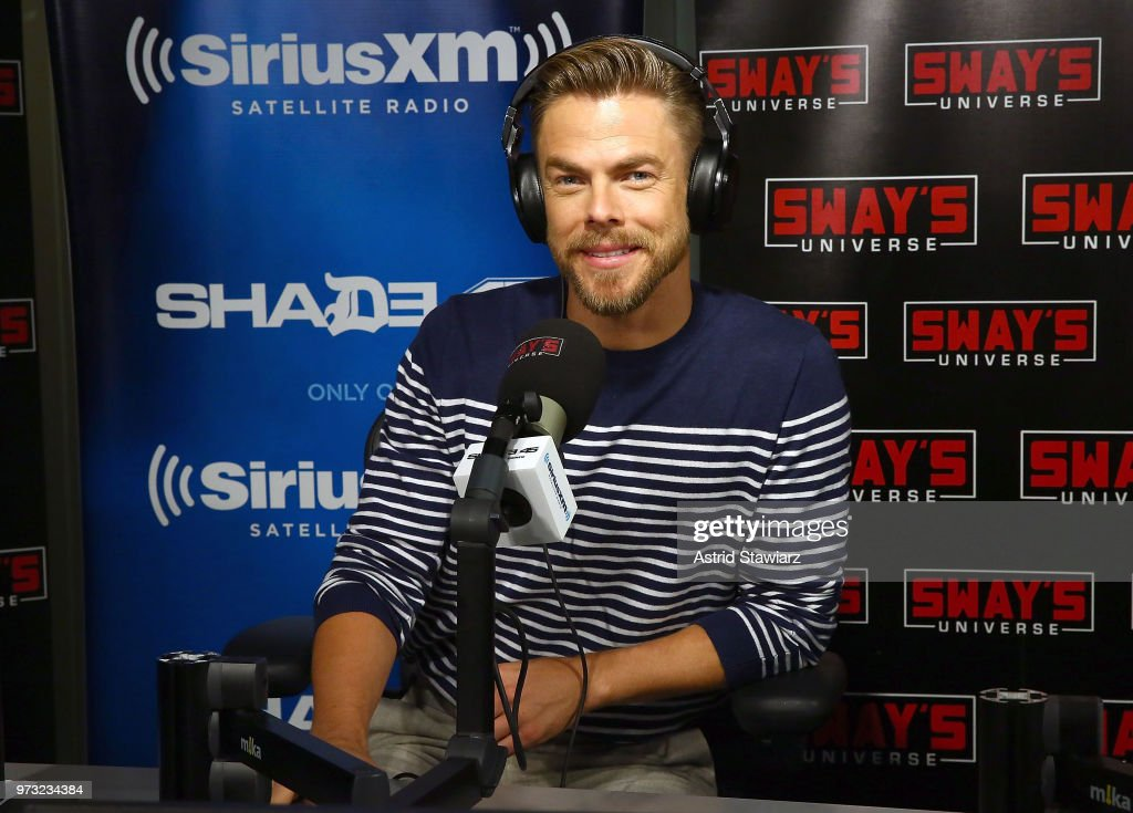 TV personality and dancer Derek Hough visits 'Sway in the Morning' hosted by SiriusXM's Sway Calloway on Eminem's Shade 45 channel at the SiriusXM Studios on June 13, 2018 in New York City.