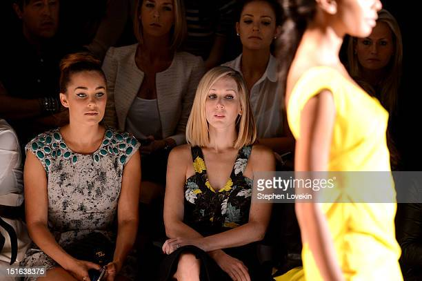 TV personality and designer Lauren Conrad attends the Lela Rose Spring 2013 fashion show during MercedesBenz Fashion Week at The Studio at Lincoln...