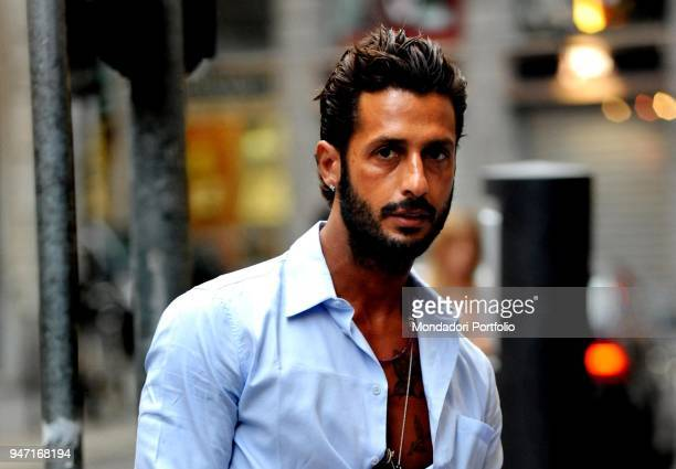 Personality and entrepreneur Fabrizio Corona after the end of the love affair with the showgirl Belen Rodriguez. Milan, Italy. 14th July 2010
