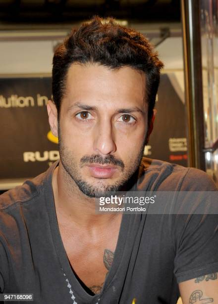 TV personality and entrepreneur Fabrizio Corona at MIDO the most important professional event dedicated to eyewear Milan Italy 6th March 2010