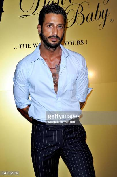 Personality and entrepreneur Fabrizio Corona at the presentation of the new jeans Donå«t Cry Baby. Milan, Italy. 14th July 2010