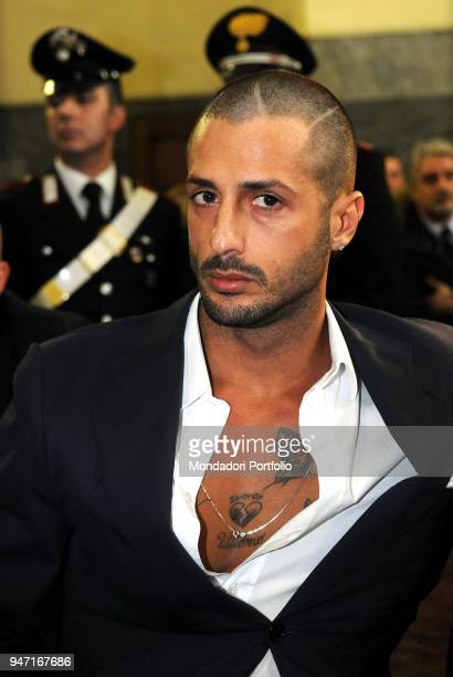 Personality and entrepreneur Fabrizio Corona in court during his trial. Milan, Italy. 10th December 2009