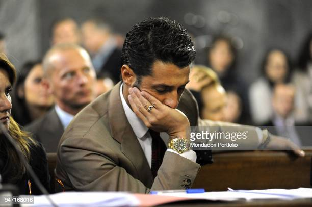 Personality and entrepreneur Fabrizio Corona in court during his trial. Milan, Italy. 11th November 2010