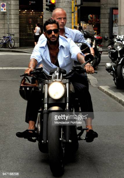 TV personality and entrepreneur Fabrizio Corona on a motorbike after the end of the love affair with the showgirl Belen Rodriguez Milan Italy 14th...