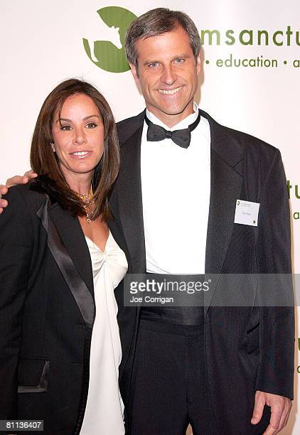 TV personality and event host Melissa Rivers with president and cofounder of Farm Sanctuary Gene Baur attend the 2008 Farm Sanctuary Gala for Farm...