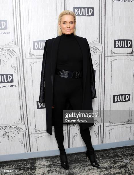 TV personality and former model Yolanda Hadid visits Build Studio to discuss 'Making a Model with Yolanda Hadid' on January 10 2018 in New York City