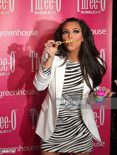 TV personality and hostess Kim Kardashian attends the ThreeO Vodka Bubble launch at Greenhouse on July 9 2009 in New York City