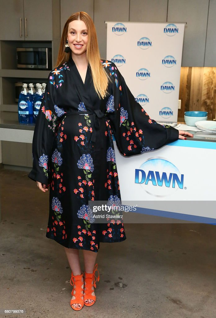 TV personality and lifestyle blogger Whitney Port poses for photos with Dawn dish soap on May 9, 2017 in New York City.