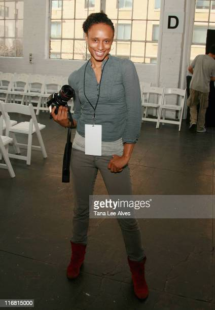 "Personality and photographer Piper Carter from ""The Shot"" attends Reyes Fall 2008 at Mercedes-Benz Fashion Week at Industria on February 3, 2008 in..."