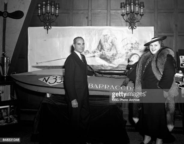 CBS personality and singer Kate Smith with Douglas C Fonda Image date May 4 1938 New York NY