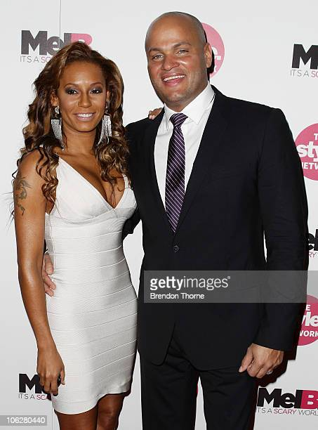 TV personality and singer Mel B and her husband Stephen Belafonte arrive at a cocktail party to celebrate their new TV series on The Style Network...