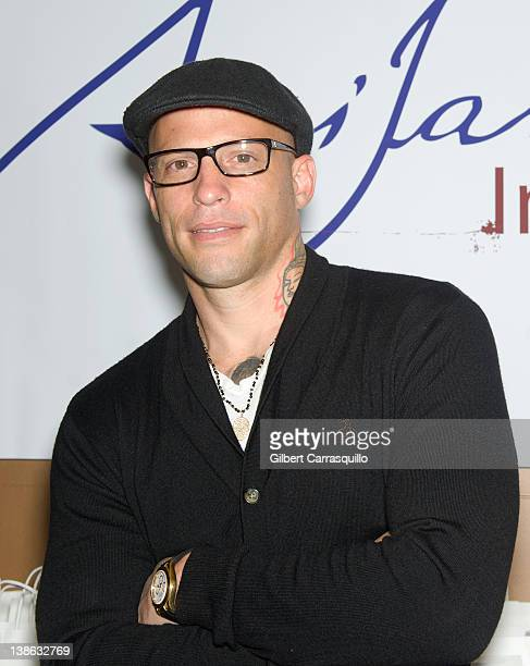 TV personality and Tattoo artist Ami James visits The Ami James Ink Tattoo PopUp Shop at the Empire Hotel on February 9 2012 in New York City