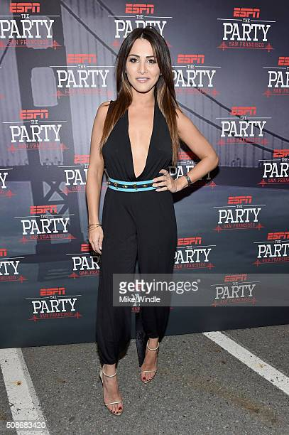 TV personality Andi Dorfman attends ESPN The Party on February 5 2016 in San Francisco California
