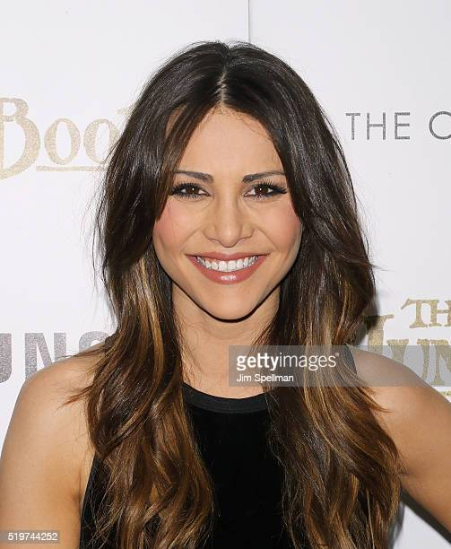 TV personality Andi Dorfman attends the screening of The Jungle Book hosted by Disney with The Cinema Society and Samsung at AMC Empire 25 theater on...