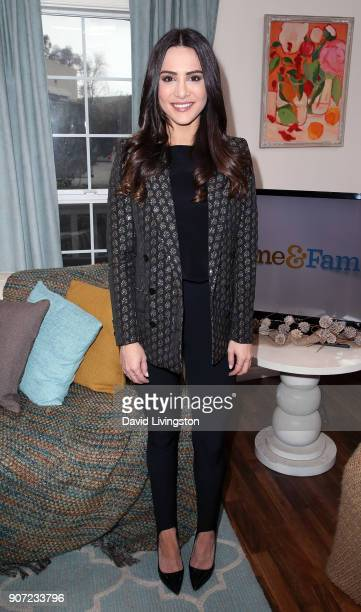 TV personality Andi Dorfman visits Hallmark's 'Home Family' at Universal Studios Hollywood on January 19 2018 in Universal City California