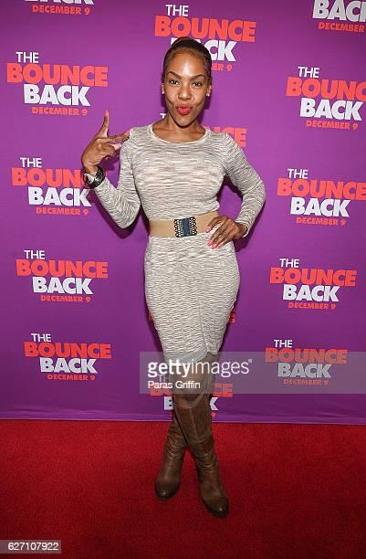 TV personality Andrea Kelly attends 'The Bounce Back' Atlanta Screening at Regal Cinemas Atlantic Station Stadium 16 on December 1 2016 in Atlanta...