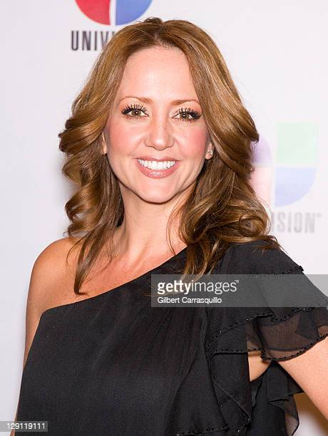 TV personality Andrea Legarreta attends the 2011 Univision Upfront at The Edison Ballroom on May 19 2011 in New York City