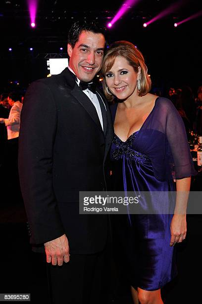 Personality Andres Asion and tv personality Ana Maria Canseco attend the 9th Annual Latin GRAMMY Awards Person Of The Year honoring Gloria Estefan...