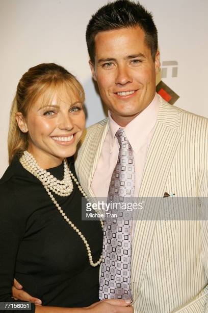 TV personality Andrew Firestone and Ivana Bozilovic arrives at the Disturbia DVD release party at The Standard Hotel on August 2 2007 in Los Angeles...