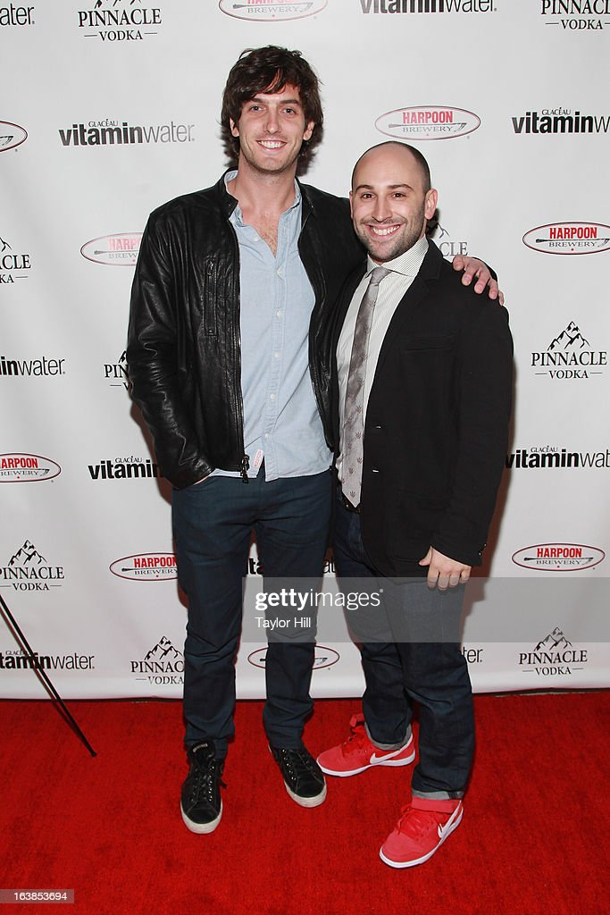 TV personality Andrew Jenks and his Director of Development Brian Lindenbaum attend the 'World Of Jenks' Season 2 Premiere And 'Andrew Jenks: My Life As A Filmmaker' Book Launch Party at Solo on March 16, 2013 in New York City.