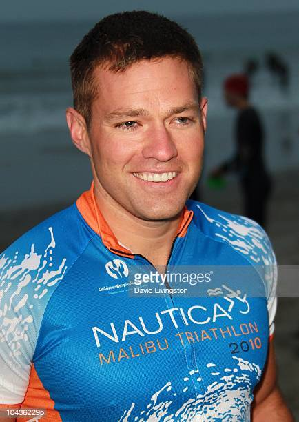 TV personality Andy Baldwin attends the 24th Annual Nautica Malibu Triathlon at Zuma Beach on September 12 2010 in Malibu California