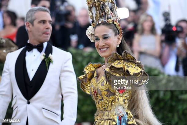 Personality Andy Cohen and actor Sarah Jessica Parker attend the Heavenly Bodies: Fashion & The Catholic Imagination Costume Institute Gala at The...