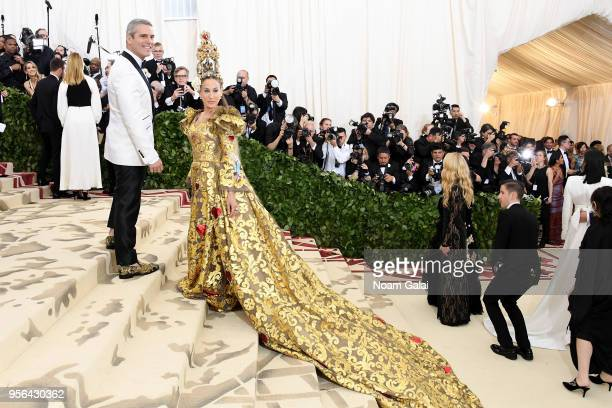 TV personality Andy Cohen and actor Sarah Jessica Parker attend the Heavenly Bodies Fashion The Catholic Imagination Costume Institute Gala at The...