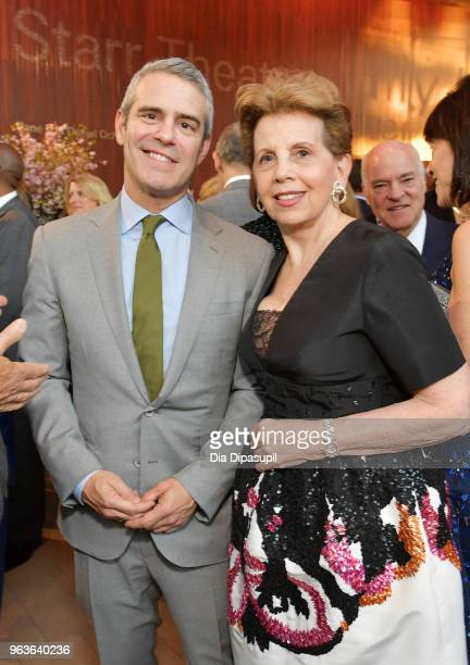 Personality Andy Cohen and gala co-chair Adrienne Arsht attend Lincoln Center's American Songbook Gala at Alice Tully Hall on May 29, 2018 in New...