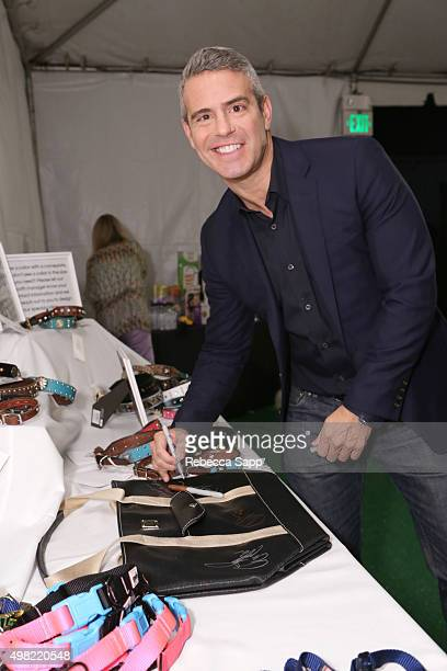 TV personality Andy Cohen at Backstage Creations Treat Suite At FOX's AllStar Dog Rescue Celebration at Barker Hangar on November 21 2015 in Santa...