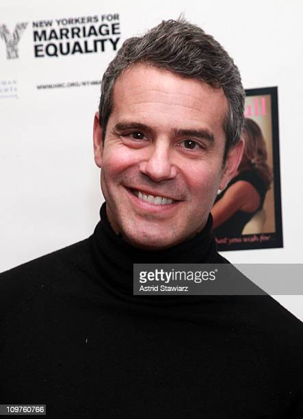 TV personality Andy Cohen attends Cat Ommanney's Inbox Full book party at Ted Gibson Salon on March 3 2011 in New York City