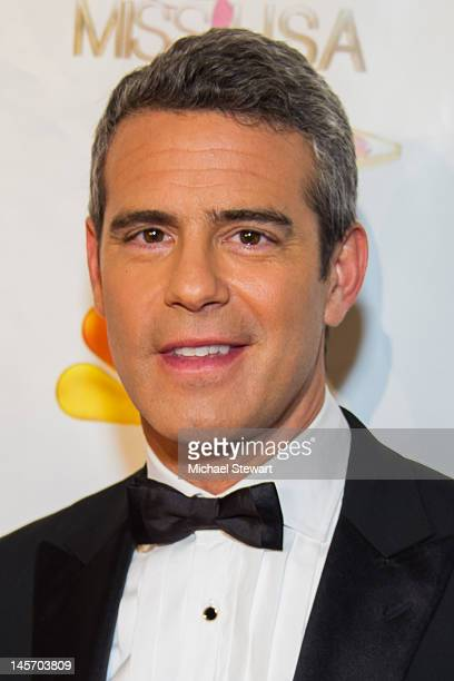 TV personality Andy Cohen attends the 2012 Miss USA pageant red carpet at Planet Hollywood Casino Resort on June 3 2012 in Las Vegas Nevada