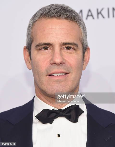 Personality Andy Cohen attends the 2016 amfAR New York Gala at Cipriani Wall Street on February 10 2016 in New York City