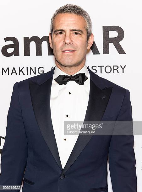 TV personality Andy Cohen attends the 2016 amfAR New York Gala at Cipriani Wall Street on February 10 2016 in New York City